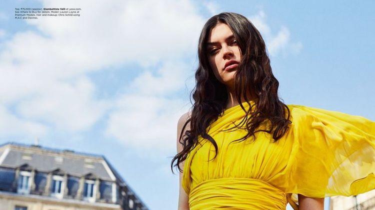 Lauren Layne Wears Colorful Looks for Harper's Bazaar India
