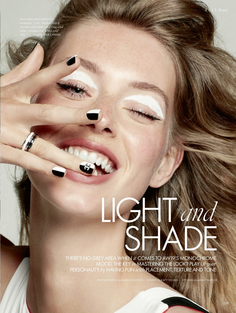 Lauren de Graaf is Marvelous in Monochrome for ELLE UK