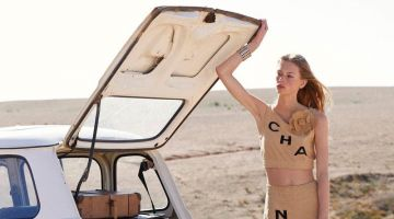 Lauren de Graaf Hits the Road in Chanel for Lula Magazine
