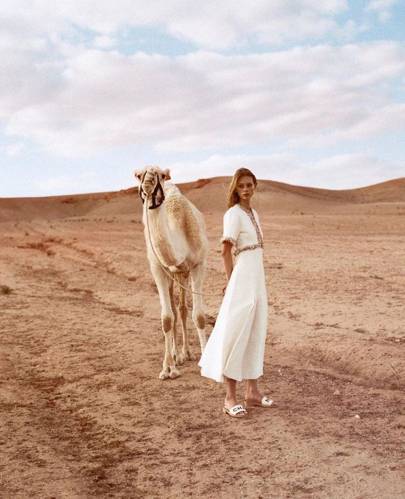 Lauren de Graaf Hits the Road in Chanel for Lula Magazine
