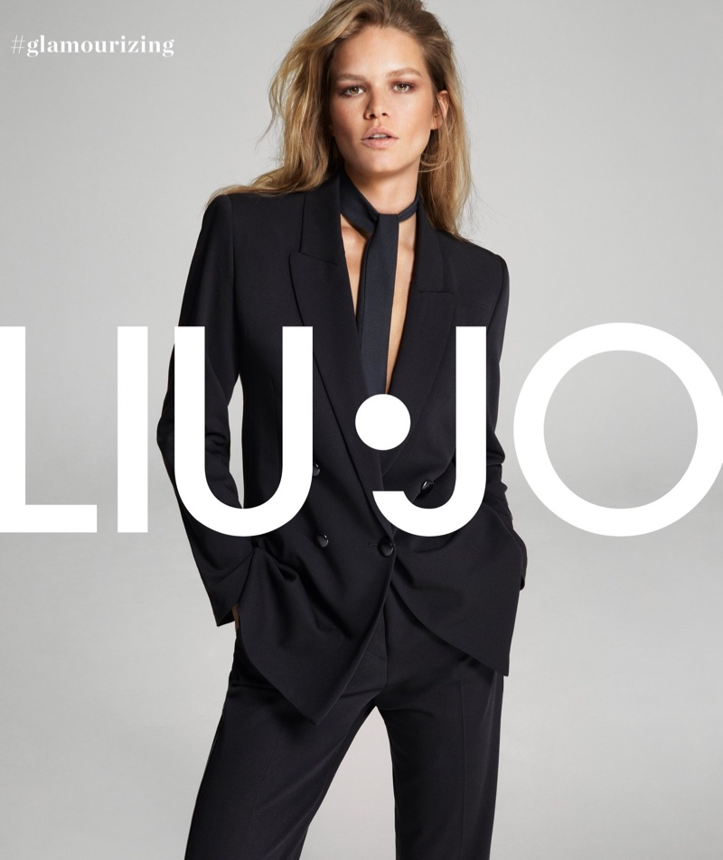 Anna Ewers suits up in Liu Jo fall-winter 2019 campaign