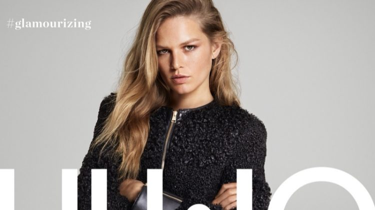 Dressed in black, Anna Ewers fronts Liu Jo fall-winter 2019 campaign