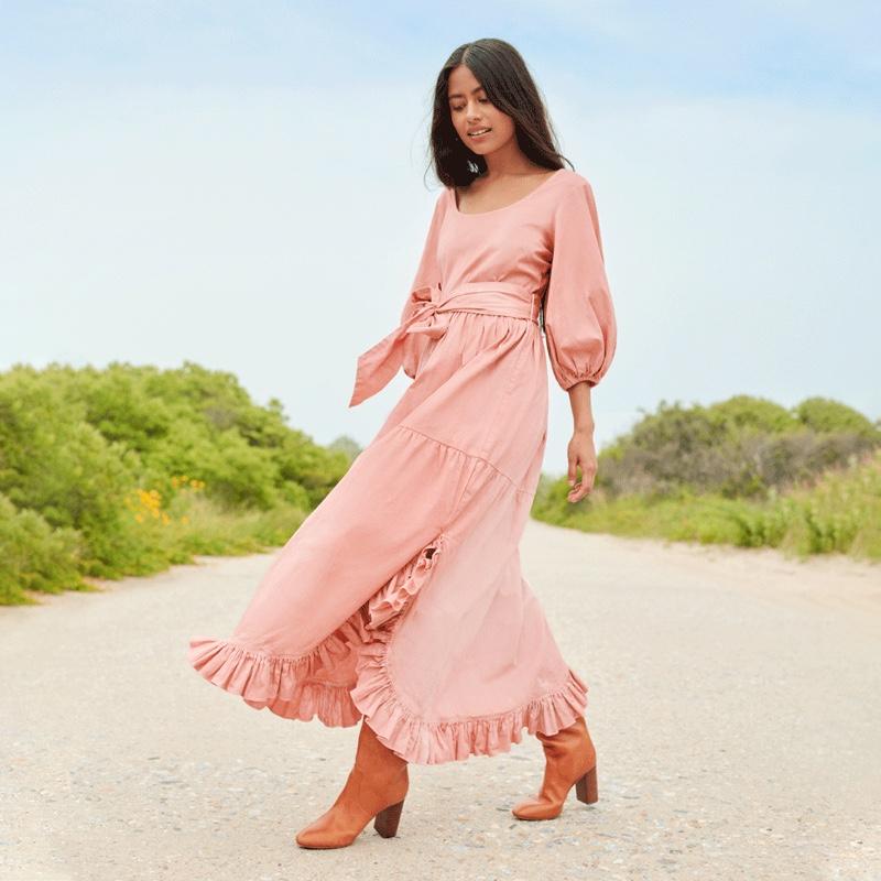 Loeffler Randall Enid Dress in Pink $350