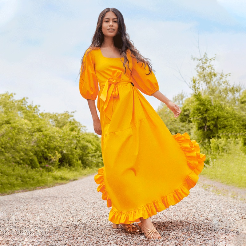 Loeffler Randall Enid Dress in Yellow $350