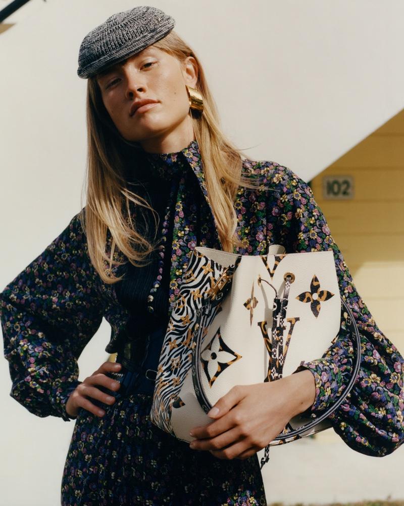Klara Kristin fronts Louis Vuitton Monogram Jungle campaign