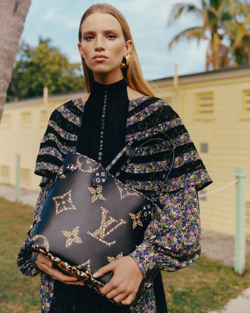Rebecca Leigh Longendyke appears in Louis Vuitton Monogram Jungle campaign