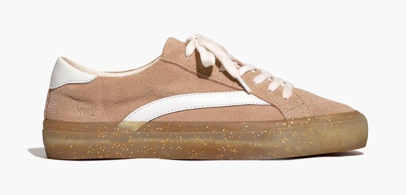 Madewell Sidewalk Low-Top Sneakers in Suede & Glitter $88