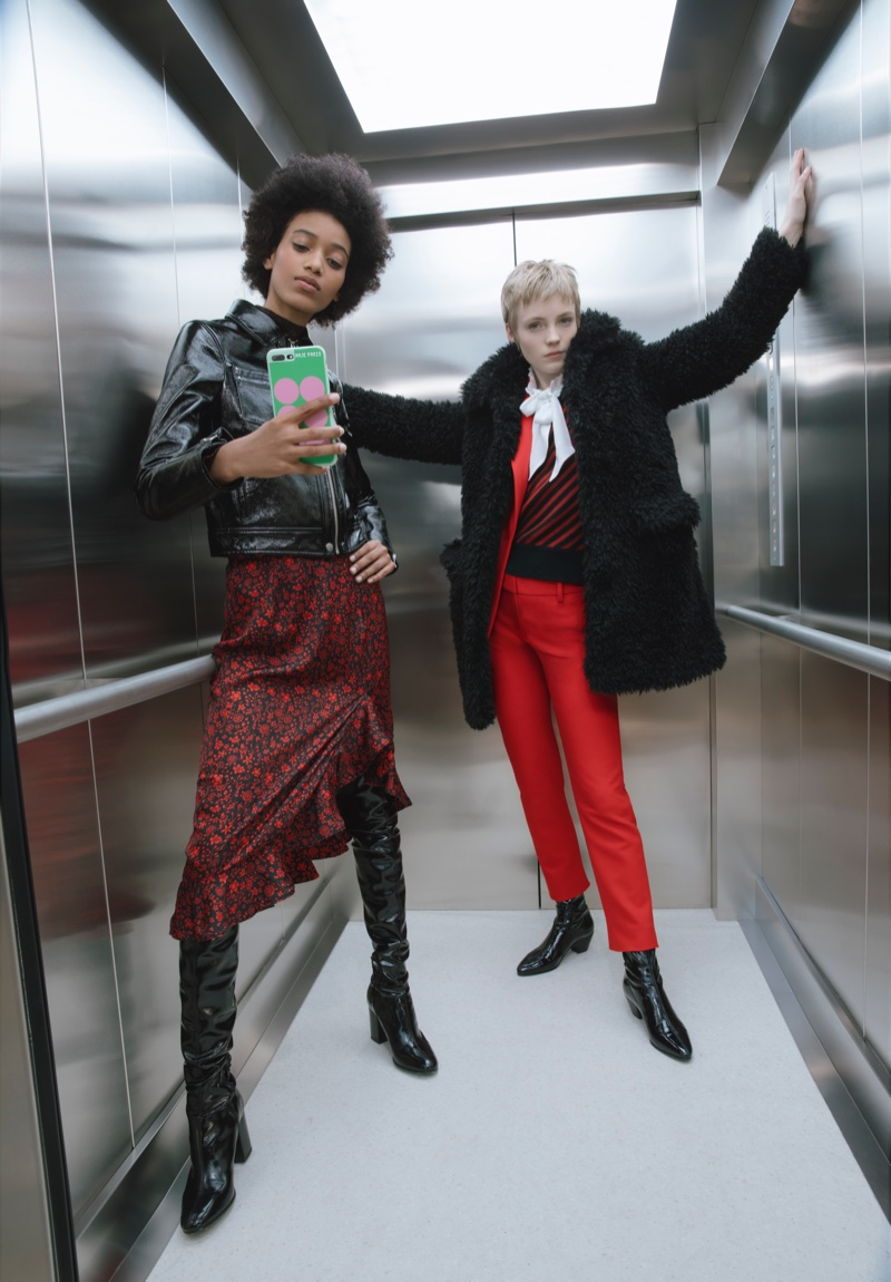 Manuela Sanchez and Luca Gillespie front Maje fall-winter 2019 campaign