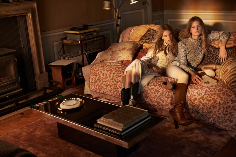 Rebecca Leigh Longendyke and Anna Ewers front Mango fall-winter 2019 campaign