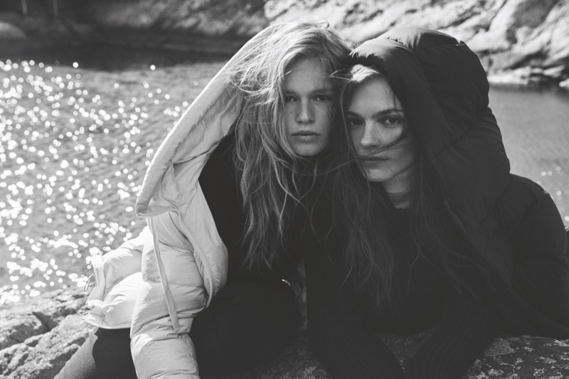 Anna Ewers and Mina Cvetkovic front Marc O'Polo fall-winter 2019 campaign