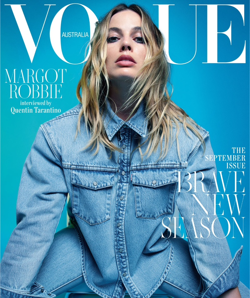 Actress Margot Robbie on Vogue Australia September 2019 Cover