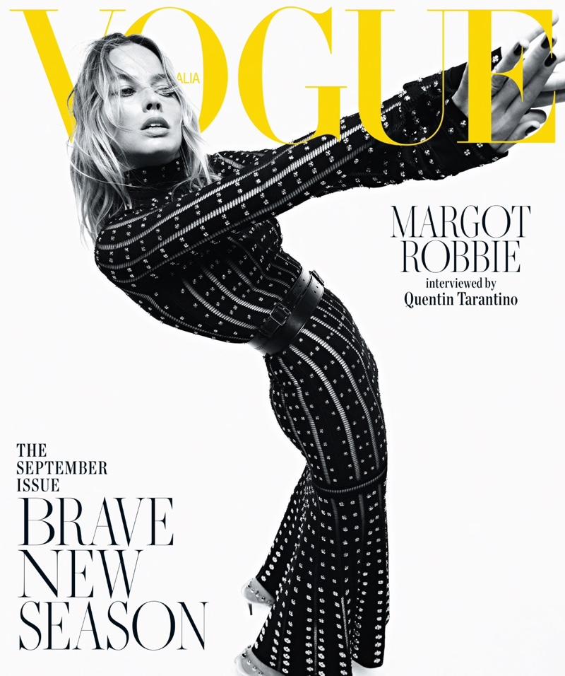 Margot Robbie wears Alexander McQueen on Vogue Australia September 2019 Cover