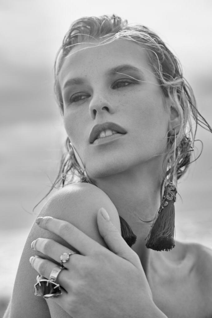 Mariina Keskitalo Models Summer Beach Looks for ELLE Bulgaria