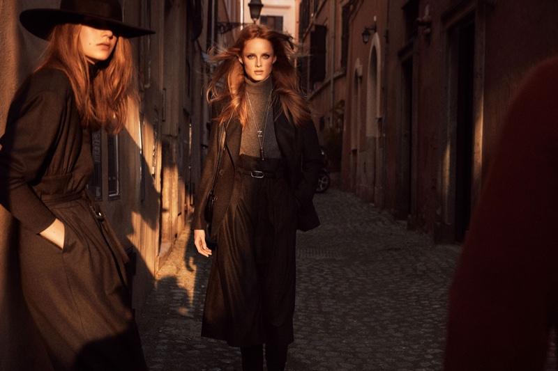 Rianne van Rompaey and Deirdre Firinne star in Massimo Dutti fall-winter 2019 campaign