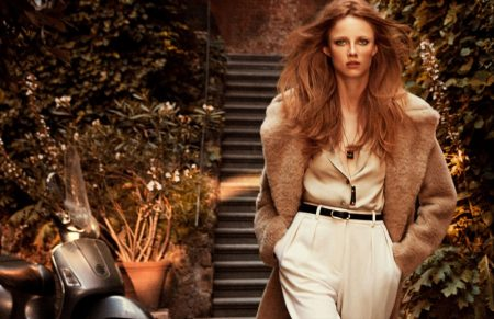 Model Rianne van Rompaey fronts Massimo Dutti fall-winter 2019 campaign