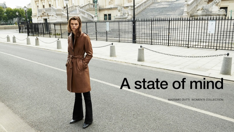 Cara Taylor stars in Massimo Dutti A State of Mind pre-fall 2019 collection