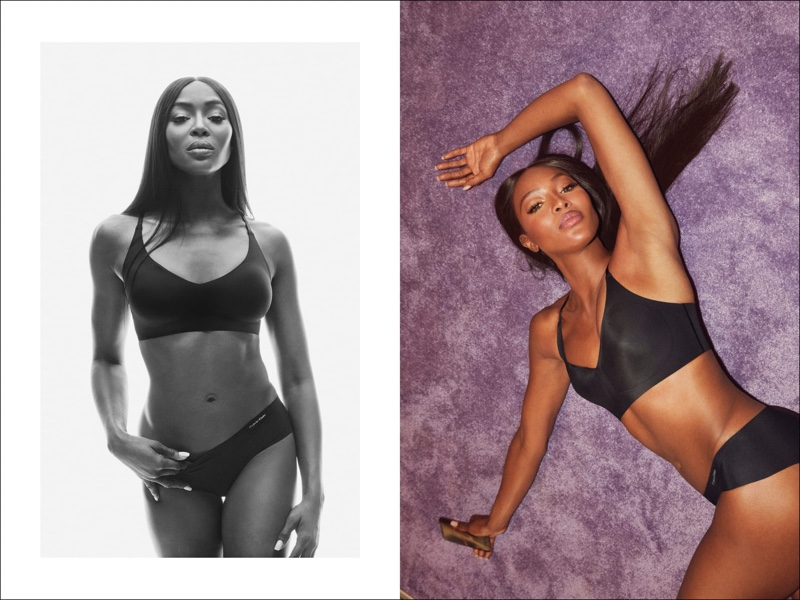 Supermodel Naomi Campbell fronts Calvin Klein #MyCalvins Underwear fall-winter 2019 campaign