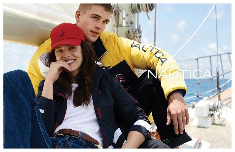 Emily DiDonato and Mitchell Slaggert front Nautica fall-winter 2019 campaign