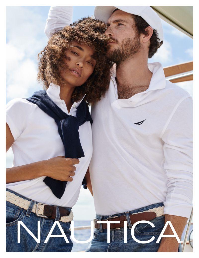 Anais Mali and Justice Joslin appear in Nautica fall-winter 2019 campaign