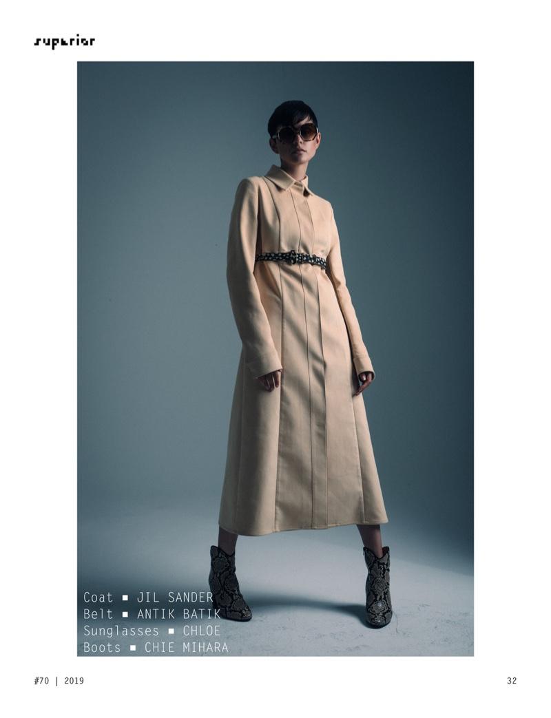 Nina K Poses in Minimal Looks for Superior Magazine