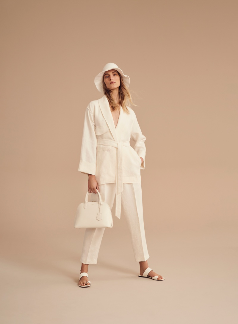 Vanessa Axente suits up in Oroton spring-summer 2019 campaign