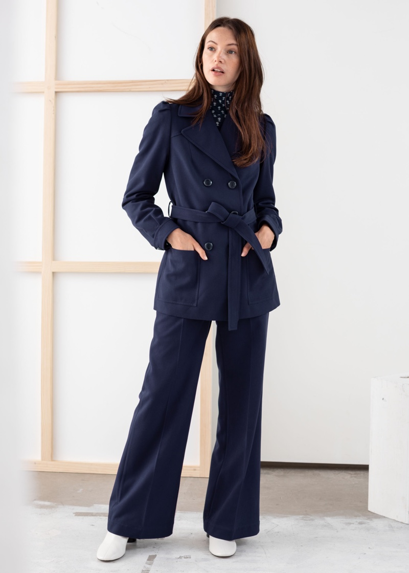 & Other Stories Belted Twill Trench Jacket $129