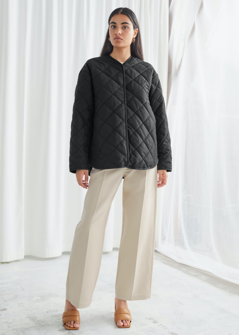 & Other Stories Double Breasted Quilted Jacket $129