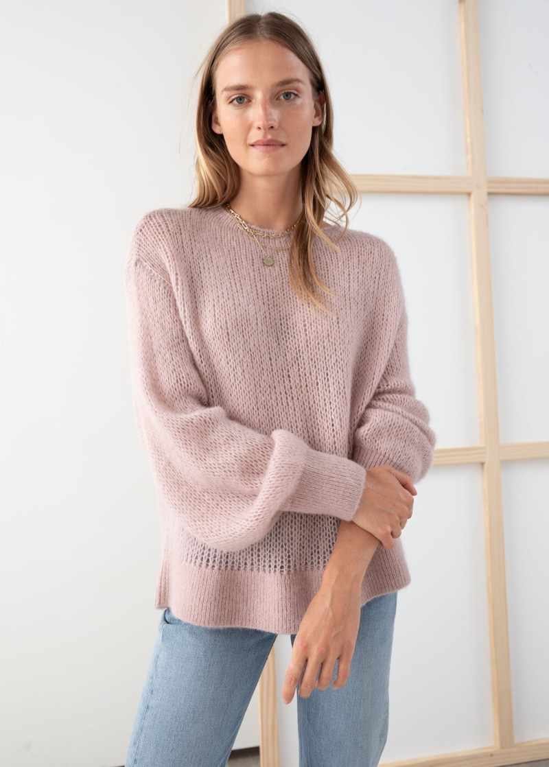 & Other Stories Relaxed Wool Blend Knit Sweater $89