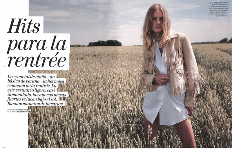 Patricia van der Vliet Models Outdoor Styles for Woman Spain