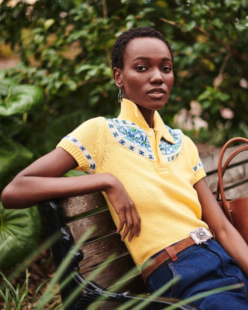 Herieth Paul appears in Polo Ralph Lauren pre-fall 2019 campaign