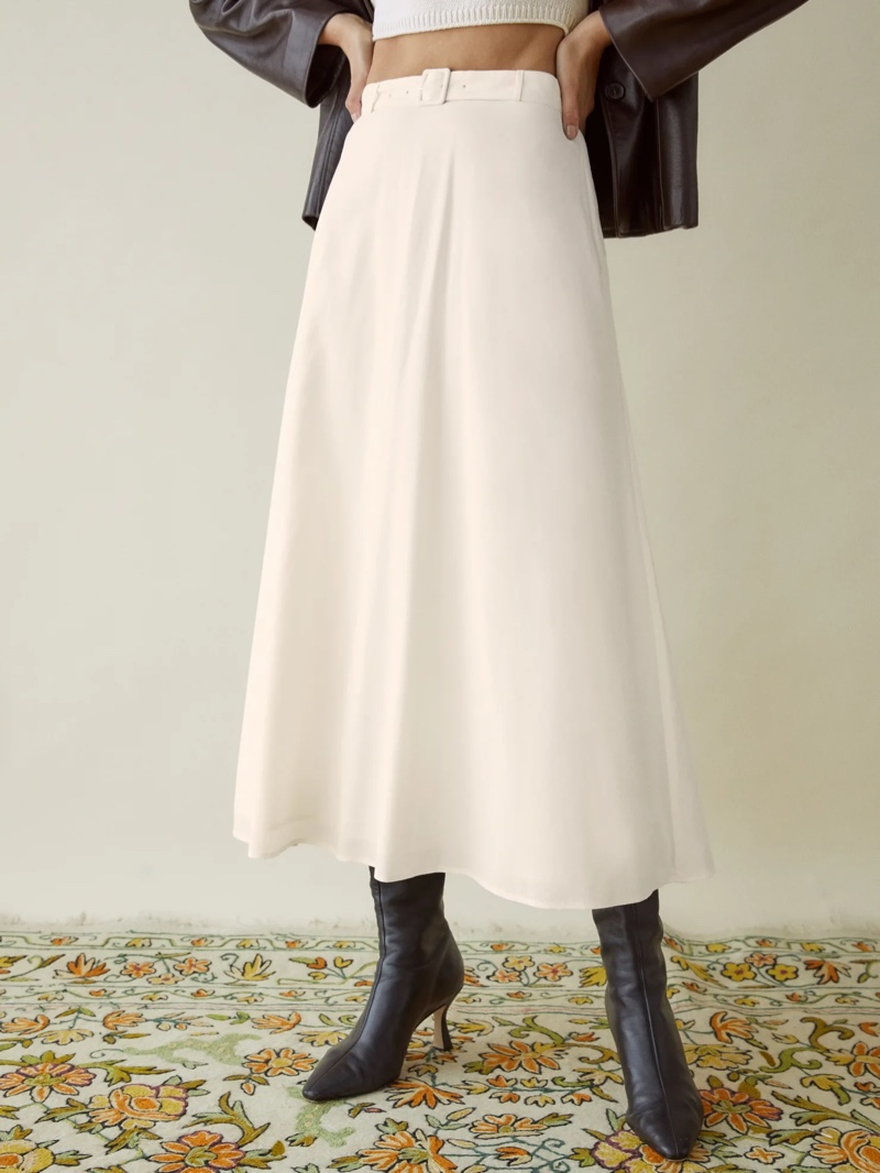 Reformation Falcon Skirt $178