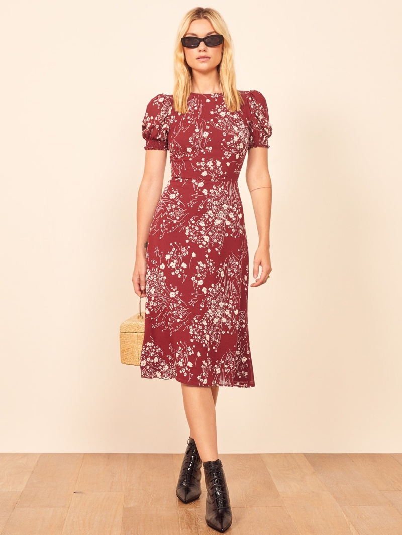 Reformation Lee Dress in Bryce $218