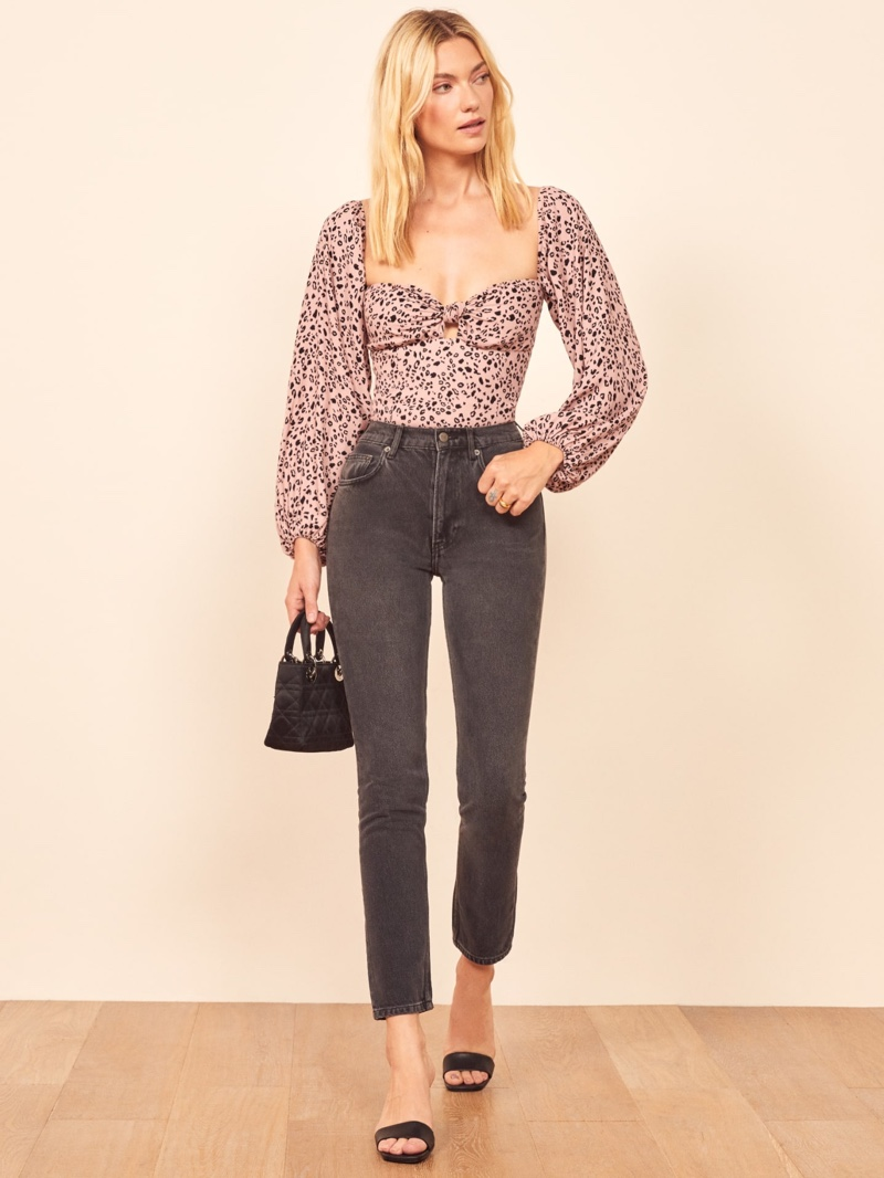 Reformation Simi Top in Pink Panther $148