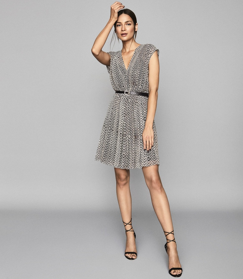 Reiss Marcy Printed Day Dress $330