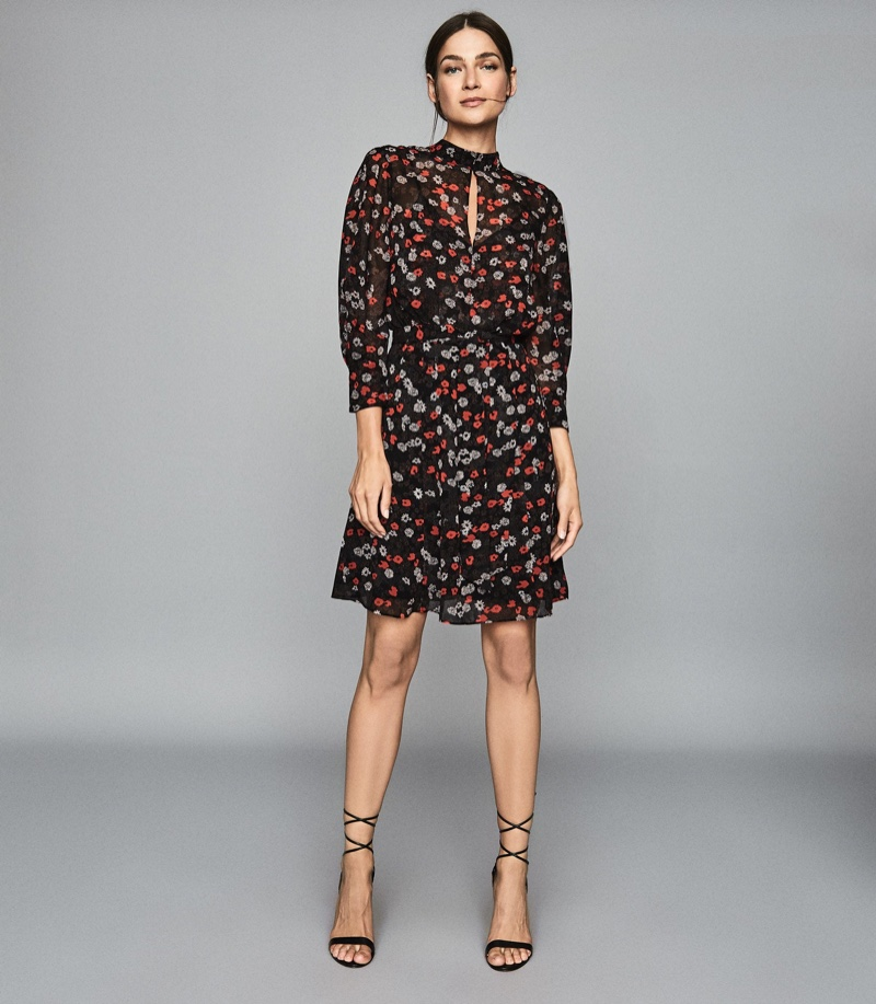 Reiss Peony Floral Printed Dress $320