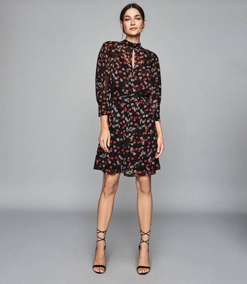 Reiss Peony Floral Printed Dress $320