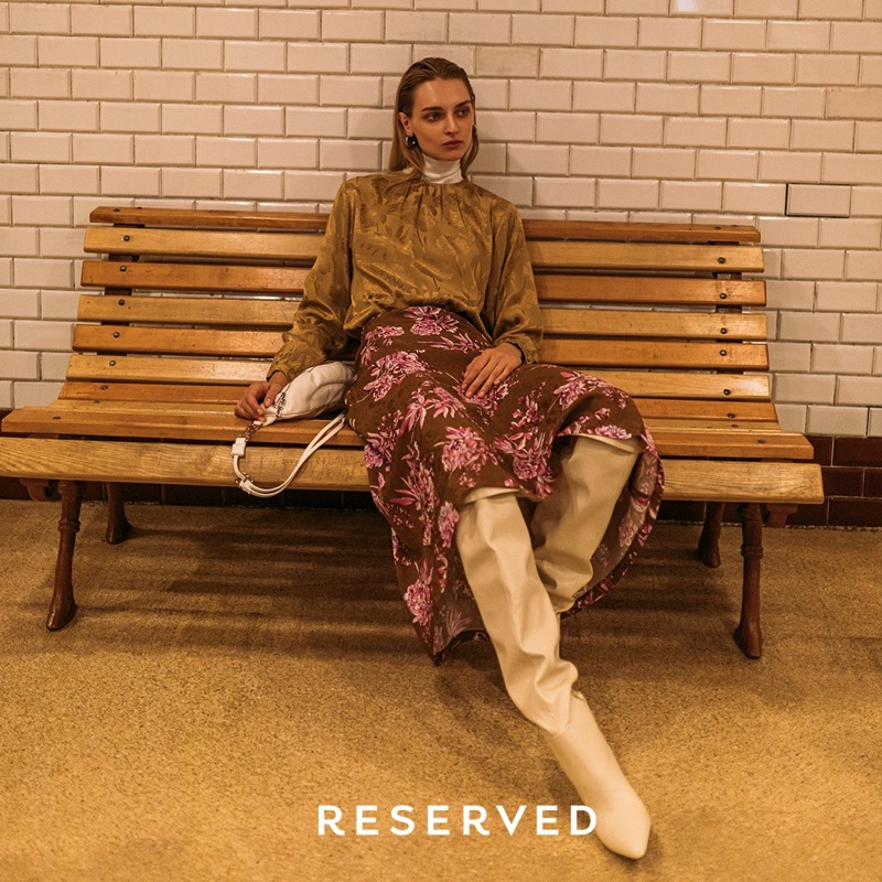 A look from Reserved's Calm and Ready fall 2019 collection