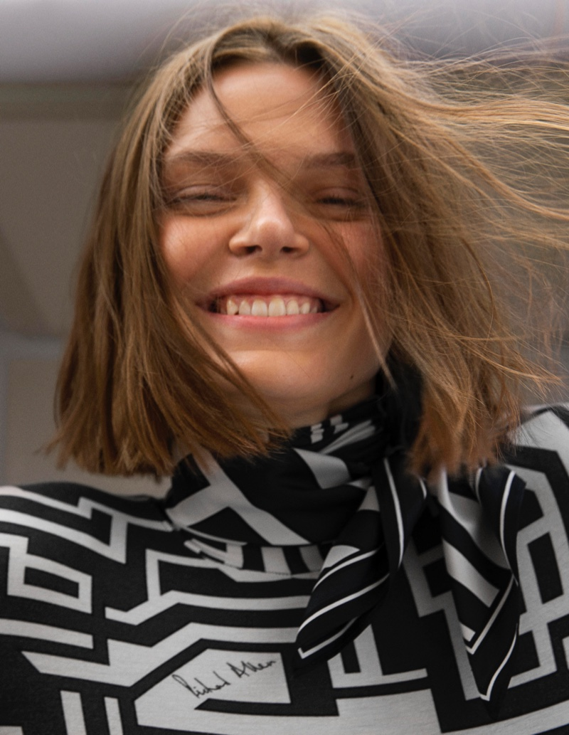 All smiles, Cara Taylor appears in Richard Allan x H&M campaign