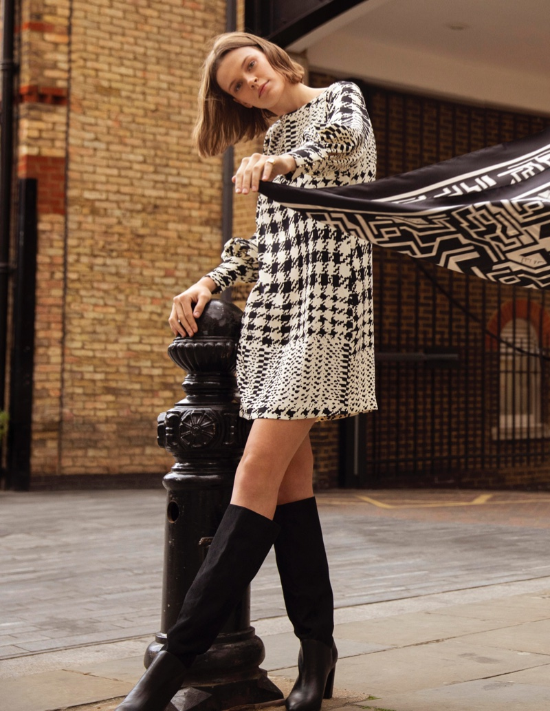 A shift dress is featured in Richard Allan x H&M collection