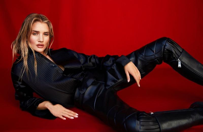 Rosie Huntington-Whiteley Models Sleek Looks for Harper's Bazaar Taiwan