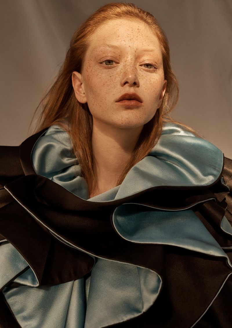 Sara Grace Wallerstedt Models Statement Looks for Vogue Russia