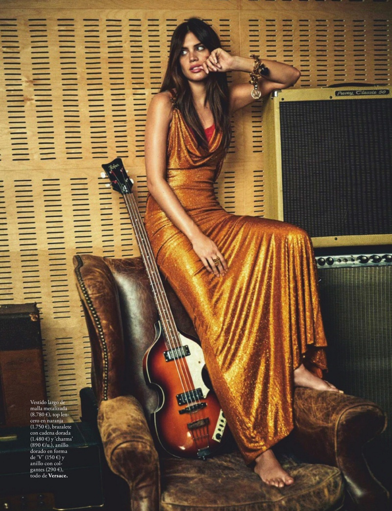 Sara Sampaio Delivers 1970's Fashion for ELLE Spain