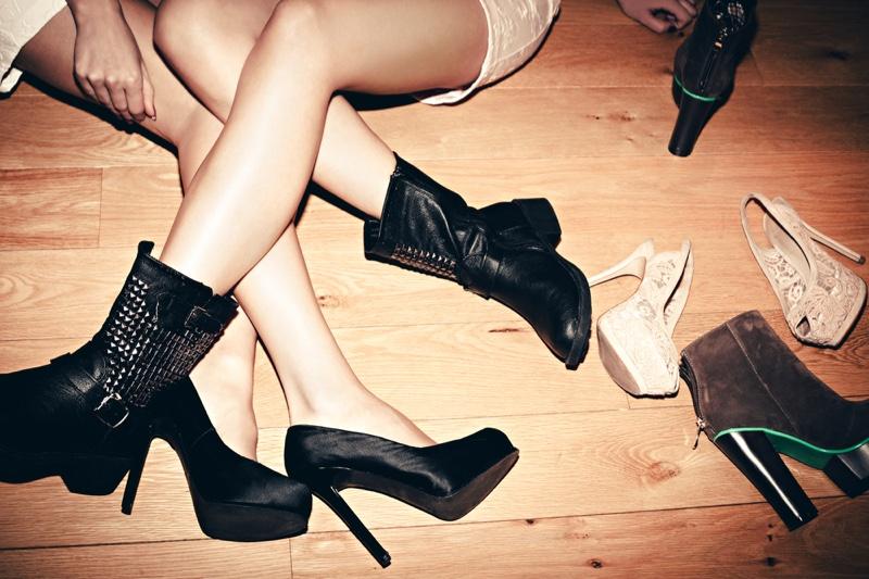Shoes Legs Heels Boots
