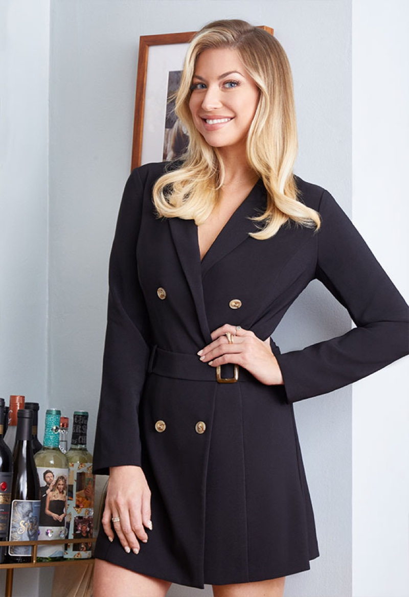 Stassi Schroeder wears blazer dress from Outfit of the Day #2 collection