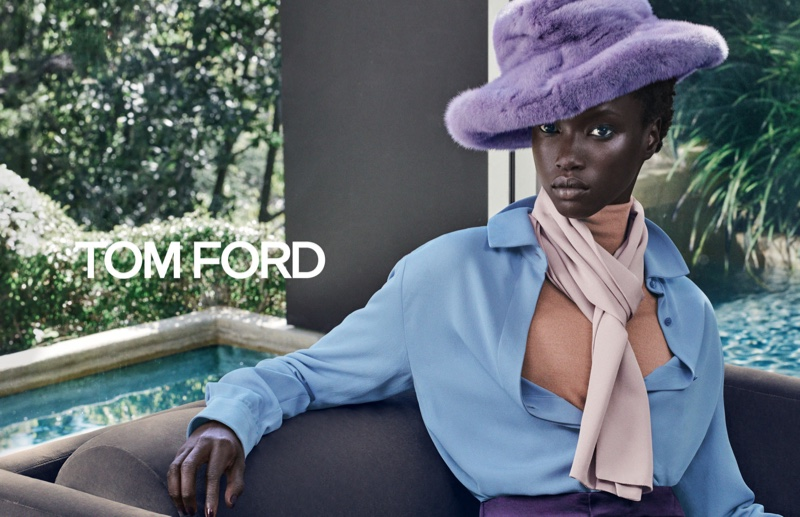 Anok Yai stars in Tom Ford fall-winter 2019 campaign