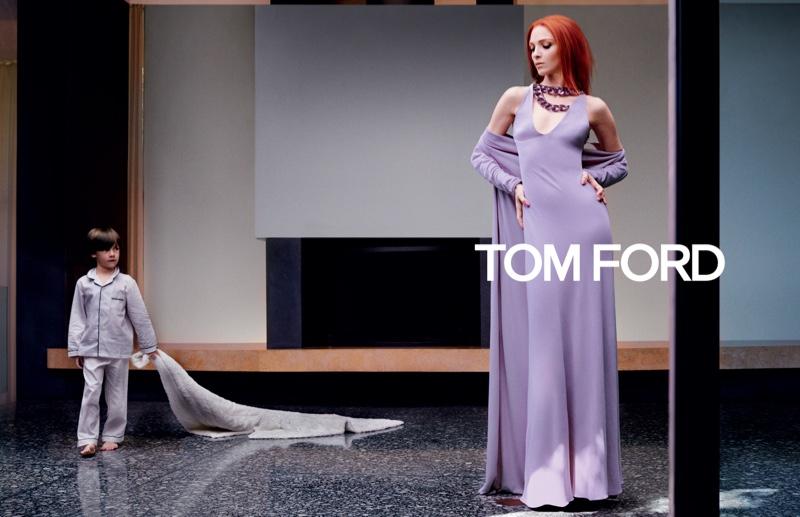 Mariacarla Boscono stars in Tom Ford fall-winter 2019 campaign