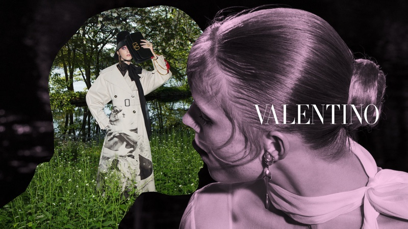 Evelyn Nagy and Rianne van Rompaey front Valentino fall-winter 2019 campaign