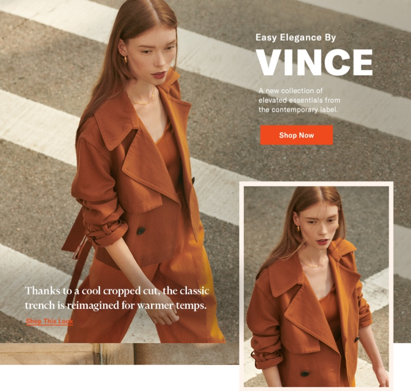 Vince Cropped Belted Jacket $495, Satin Tank $225 and Cropped Trousers $285