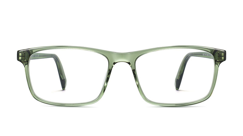 Warby Parker Becton Extra Wide Glasses in Rosemary Crystal $95