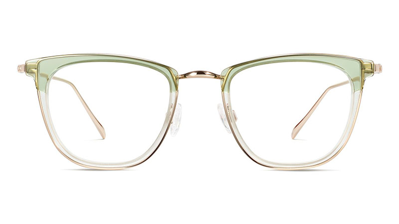 Warby Parker Devon Glasses in Layered Aloe Crystal with Riesling $145